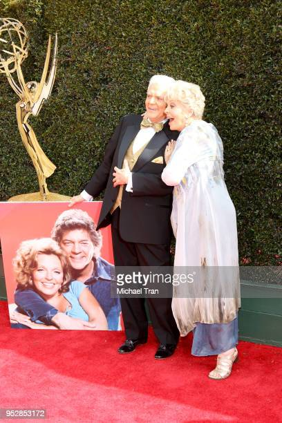 Bill Hayes and Susan Seaforth Hayes attend the 45th annual Daytime Emmy Awards at Pasadena Civic Auditorium on April 29 2018 in Pasadena California