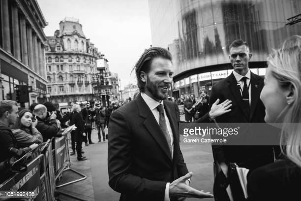Bill Heck attends the UK Premiere of 'The Ballad of Buster Scruggs' the American Airlines Gala during the 62nd BFI London Film Festival on October 12...