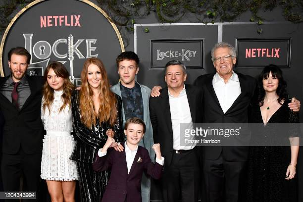 Bill Heck Emilia Jones Darby Stanchfield Connor Jessup Jackson Robert Scott Netflix CCO Ted Sarandos Carlton Cuse and Meredith Averill attend...