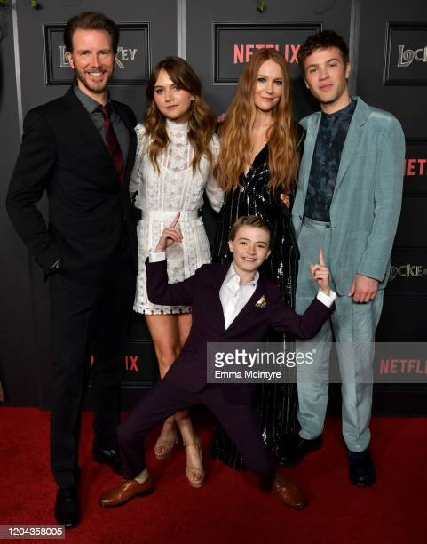 Bill Heck Emilia Jones Jackson Robert Scott Darby Stanchfield and Connor Jessup attend the Locke Key Los Angeles Premiere at the Egyptian Theatre on...
