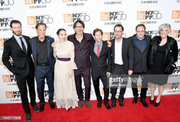 Bill Heck Granger Hines Zoe Kazan Joel Coen Tim Blake Nelson Ethan Coen Stephen Root and Tyne Daly attend the Netflix's The Ballad of Buster Scruggs...