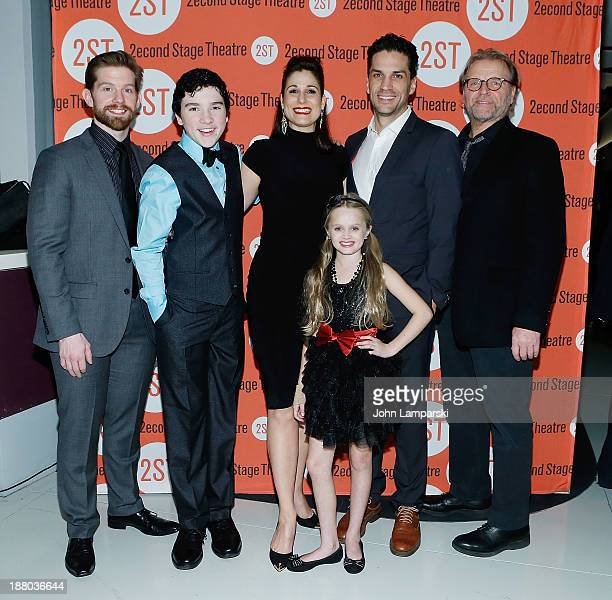 Bill Heck Logan Rowland Jennifer Sanchez Stephanie J Block Will Swenson Miranda McCeon and David Rasche attend the after party for the offBroadway...