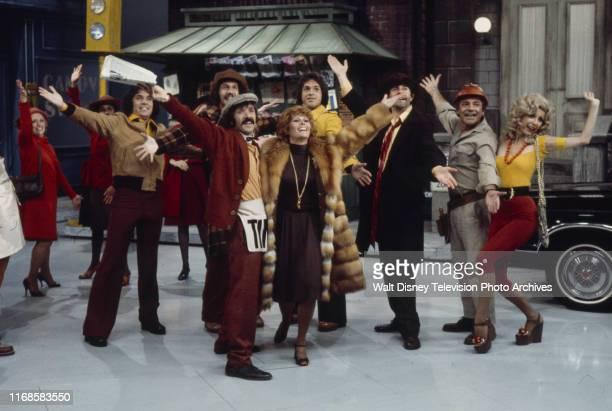 Bill Hudson Mark Hudson Sonny Bono Jill St John Brett Hudson Teri Garr the Hudson Brothers appearing in sketch on the ABC tv series 'The Sonny Comedy...
