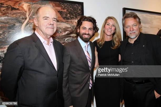 Bill Hunt Joseph Kraeutler Sarah Hasted and Edward Burynsky attend EDWARD BURTYNSKY Artist Reception at HASTED HUNT KRAEUTLER on October 6 2009 in...