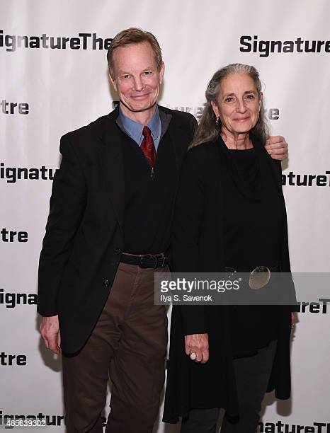 Bill Irwin and his wife attend 'The Liquid Plane' Opening Night Party at Signature Theatre Company's The Pershing Square Signature Center on March 8...