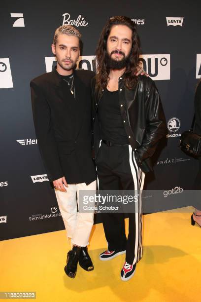 Bill Kaulitz and his twin brother Tom Kaulitz during the 3rd ABOUT YOU Awards at Bavaria Studios on April 18 2019 in Munich Germany