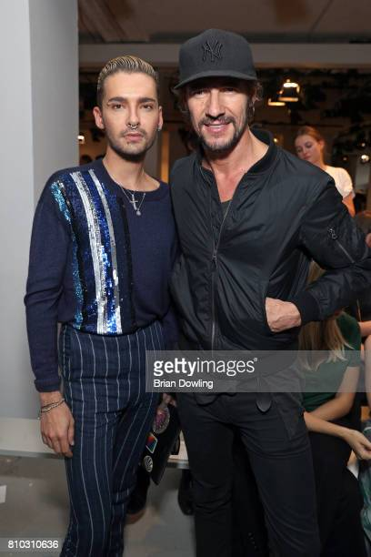 Bill Kaulitz and Thomas Hayo attend the Prabal Gulung Design show during the MercedesBenz Fashion Week Berlin Spring/Summer 2018 at Kaufhaus Jandorf...