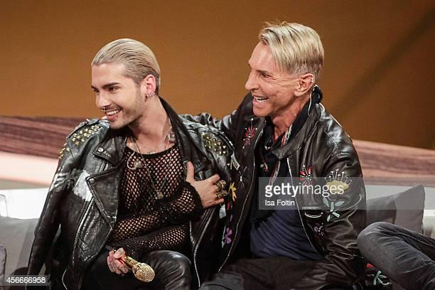 Bill Kaulitz and Wolfgang Joop attend Wetten dass from Erfurt on October 04 2014 in Erfurt Germany