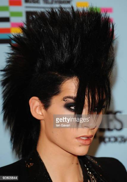 Bill Kaulitz arrives for the 2009 MTV Europe Music Awards held at the O2 Arena on November 5 2009 in Berlin Germany