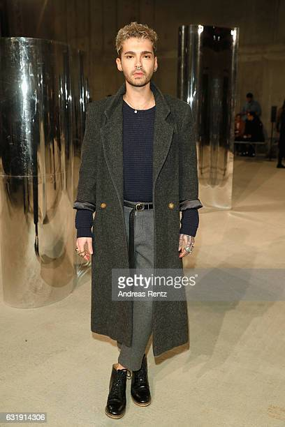 Bill Kaulitz attends the Malaikaraiss defile during the Der Berliner Mode Salon A/W 2017 at Kronprinzenpalais on January 17 2017 in Berlin Germany