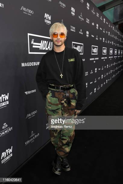 Bill Kaulitz attends the MDLA by Bill Kaulitz fashion show during the AYFW About You Fashion Week at ewerk on July 06 2019 in Berlin Germany