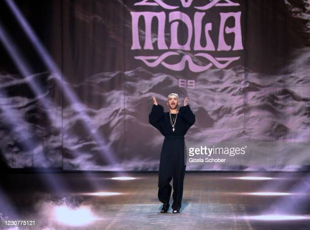 Bill Kaulitz during the ABOUT YOU Fashion Week, AYFW, MDLA show production at Kraftwerk on January 23, 2021 in Berlin, Germany.