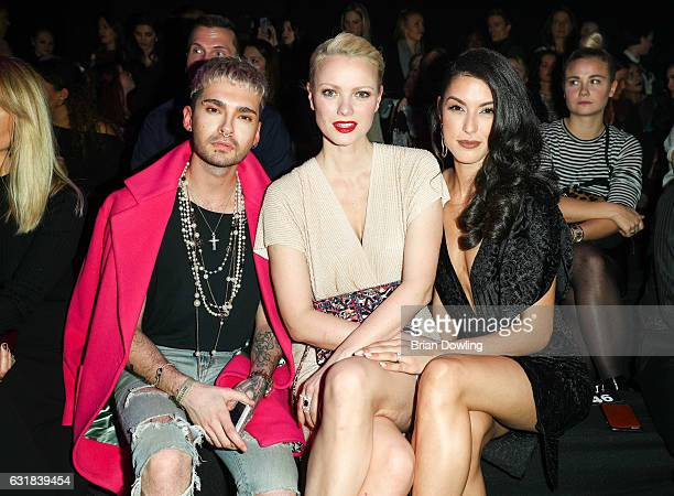 Bill Kaulitz Franziska Knuppe and Rebecca Mir attends the Maybelline Hot Trendsxhbition 2017 show during the MercedesBenz Fashion Week Berlin A/W...