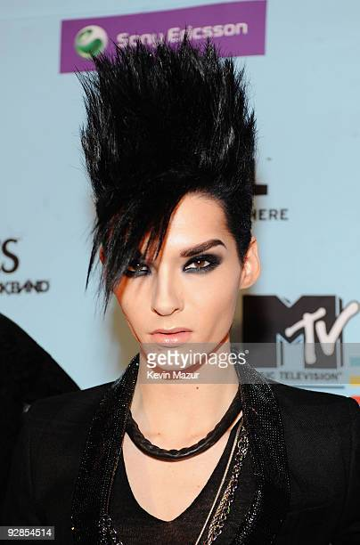 Bill Kaulitz from Tokio Hotel arrives for the 2009 MTV Europe Music Awards held at the O2 Arena on November 5 2009 in Berlin Germany