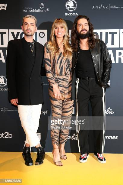 Bill Kaulitz Heidi Klum and her partner Tom Kaulitz during the 3rd ABOUT YOU Awards at Bavaria Studios on April 18 2019 in Munich Germany