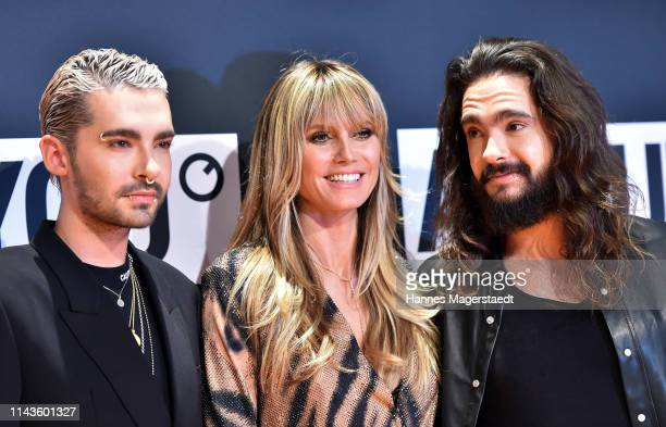Bill Kaulitz Heidi Klum and Tom Kaulitz during the 3rd ABOUT YOU Awards at Bavaria Studios on April 18 2019 in Munich Germany