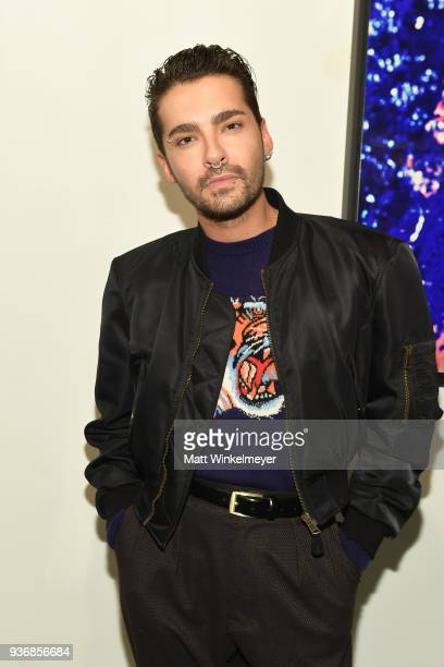 Bill Kaulitz of the band Tokio Hotel attends the Life Art Festival Presents Westweek 2018 Emulsion Art Exhibition Reception on March 22 2018 in West...
