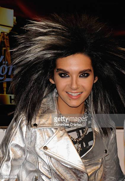 Bill Kaulitz of Tokio Hotel arrives at the Goldene Kamera Award 2008 at the Ullsteinhalle on February 6 2008 in Berlin Germany