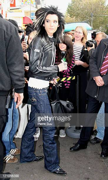 Bill Kaulitz of 'Tokio Hotel' during German Boy Band 'Tokio Hotel' Sighting in Paris November 27 2006 at Paris in Paris France