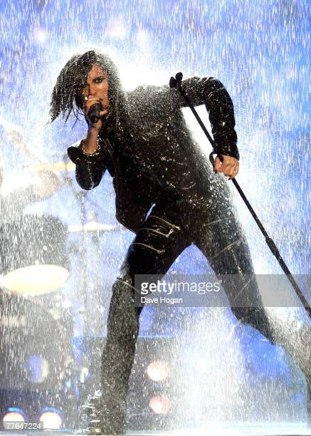 Bill Kaulitz of Tokio Hotel performs on stage at the MTV Europe Music Awards 2007 at the Olympiahalle on November 1 2007 in Munich Germany
