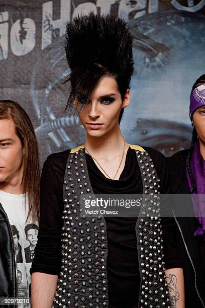 Bill Kaulitz of Tokyo Hotel attends the Tokyo Hotel's 'Humanoid' album launch press conference and photocal lat Hotel Presidente Intercontinental on...