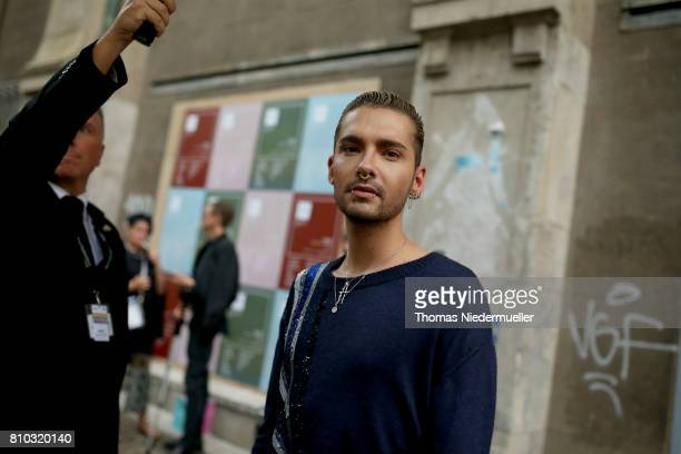 Bill Kaulitz poses during the MercedesBenz Fashion Week Berlin Spring/Summer 2018 at Kaufhaus Jandorf on July 7 2017 in Berlin Germany