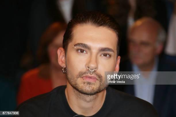 Bill Kaulitz singer of the band 'Tokio Hotel' during the Markus Lanz TV Talkshow on November 22 2017 in Hamburg Germany
