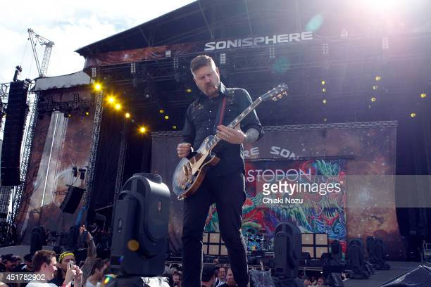 Bill Kelliher of Mastodon performs at Day 3 of the Sonisphere Festival at Knebworth Park on July 6 2014 in Knebworth England