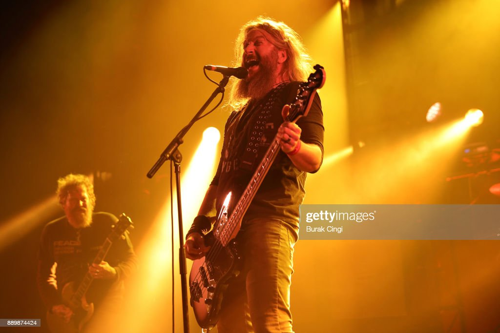 Bill Kelliher of Mastodon performs at O2 Academy Brixton on December 10, 2017 in London, England.