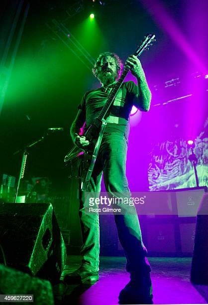 Bill Kelliner of Mastodon performs on stage at O2 Academy on November 26, 2014 in Glasgow, United Kingdom.