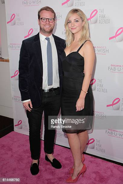 Bill Kennedy and Actress Abby Elliott attend The Pink Agenda 2016 Gala at Three Sixty on October 13 2016 in New York City