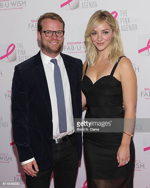 Bill Kennedy and actress Abby Elliott attend The Pink Agenda's 2016 Gala held at Three Sixty on October 13 2016 in New York City