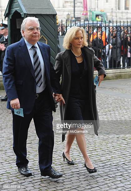 Bill Kenwright and Jenny Seagrove attend the RTS Programme Awards at The Grosvenor House Hotel on March 17, 2015 in London, England.