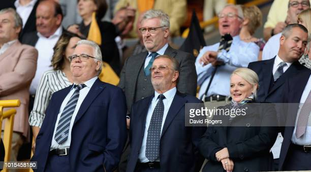 Bill Kenwright, the Everton chairman looks on during the Premier League match between Wolverhampton Wanderers and Everton FC at Molineux on August...