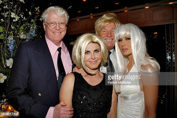 Bill Koch Bridgette Koch Donald Trump and Melania Trump attend WOODY JOHNSON's Wig Out 60th Birthday Party at Doubles on April 12 2007 in New York...