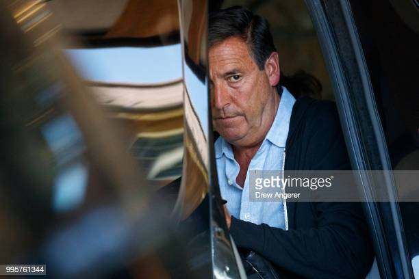 Bill Koenigsberg founder and chief executive of Horizon Media arrives at the Sun Valley Resort for the annual Allen Company Sun Valley Conference...