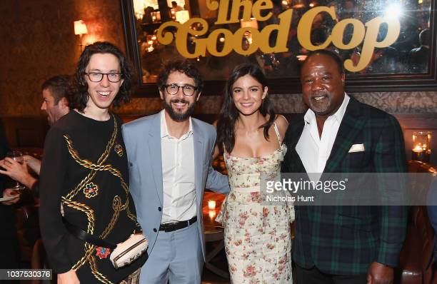 Bill Kottkamp Josh Groban Monica Barbaro and Isiah Whitlock Jr attends the after party for the New York Premiere of Netflix's Original Series The...