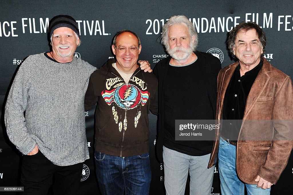 Bill Kreutzmann, Alex Blavatnik, Bob Weir, and Mickey Hart arrive at the 'Long Strange Trip' Premiere at Yarrow Hotel Theater on January 23, 2017 in Park City, Utah.