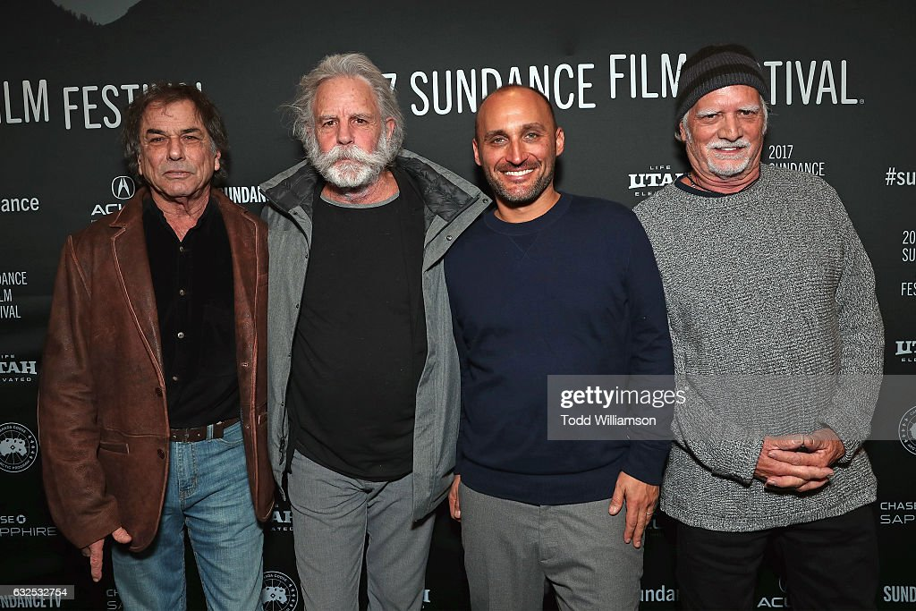 Bill Kreutzmann, Bob Weir, Amir Bar-Lev, and Mickey Hart attend the premiere of Amazon Studios' 'Long Strange Trip' at the 2017 Sundance Film Festival at Yarrow Hotel Theater on January 23, 2017 in Park City, Utah.