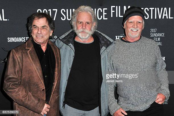 Bill Kreutzmann Bob Weir and Mickey Hart of the Grateful Dead arrive at the 'Long Strange Trip' Premiere at Yarrow Hotel Theater on January 23 2017...