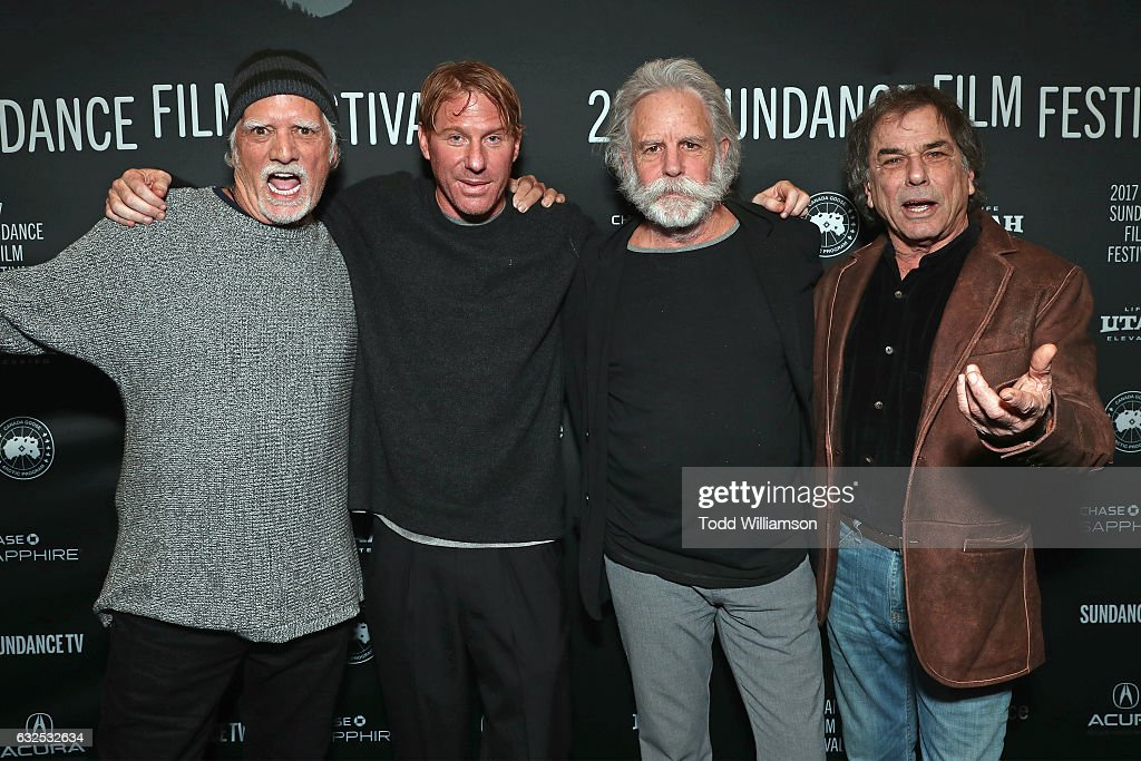 Bill Kreutzmann, Eric Eisner, Bob Weir, and Mickey Hart attend the premiere of Amazon Studios' 'Long Strange Trip' at the 2017 Sundance Film Festival at Yarrow Hotel Theater on January 23, 2017 in Park City, Utah.