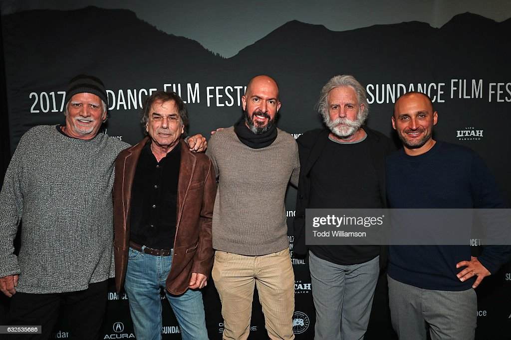 Bill Kreutzmann, Mickey Hart, Dan Seligmann, Bob Weir, and Amir Bar-Lev attend the premiere of Amazon Studios' 'Long Strange Trip' at the 2017 Sundance Film Festival at Yarrow Hotel Theater on January 23, 2017 in Park City, Utah.