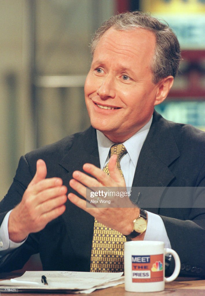 Bill Kristol on Meet the Press : News Photo