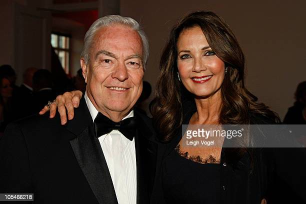 Bill Kurtis and Lynda Carter attend the National Law Enforcement Gala at the National Building Museum on October 14 2010 in Washington DC
