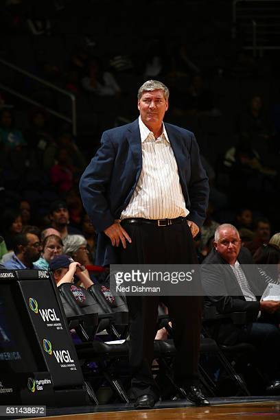WASHINGTON DC Bill Laimbeer of the New York Liberty is seen during the game on May 14 2016 at Verizon Center in Washington DC NOTE TO USER User...