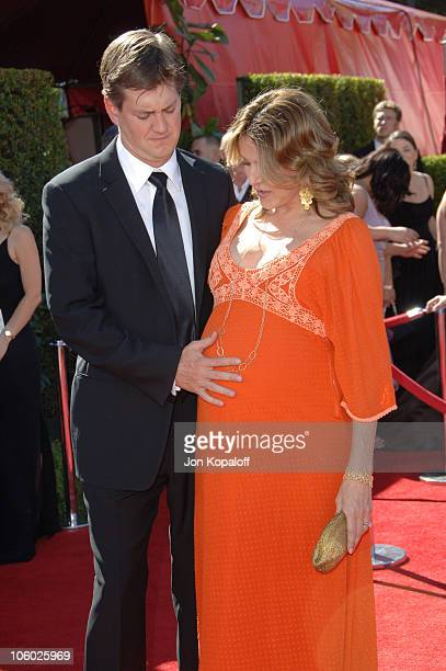 Bill Lawrence and Christa Miller during 58th Annual Primetime Emmy Awards Arrivals at Shrine Auditorium in Los Angeles California United States