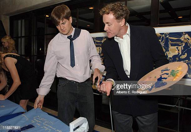 Bill Lawrence and John C McGinley during Esquire House and Johnnie Walker Blue Host Scrubs Season Six Celebration Inside at Esquire House 360 in...