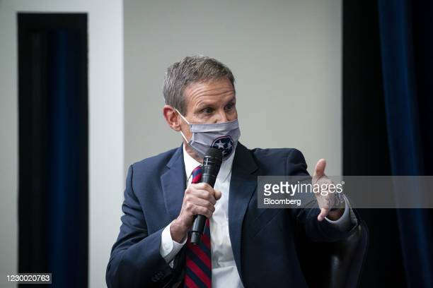 Bill Lee, governor of Tennessee, speaks during an Operation Warp Speed vaccine summit at the White House in Washington, D.C., U.S., on Tuesday, Dec....