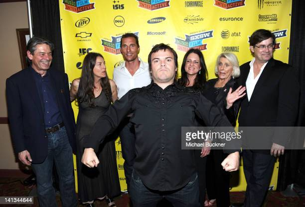 Bill Lee of Millennium Entertainment producer Ginger Sledge actor Jack Black actor Matthew McConaughey Cathy Schulman Kat McConaughey and writer Skip...