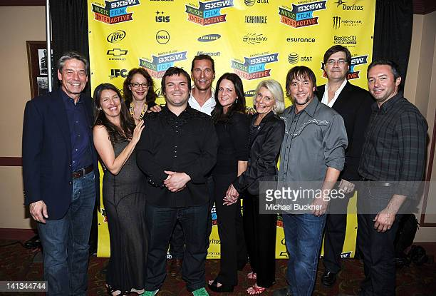 Bill Lee of Millennium Entertainment producer Ginger Sledge Janet Pierson Producer SXSW Film Festival actor Jack Black actor Matthew McConaughey...